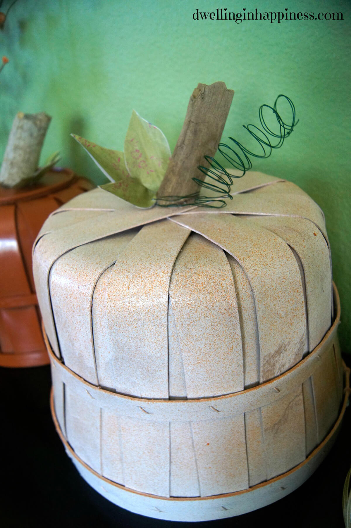 Decorate Your Porch with Fall Basket Pumpkins