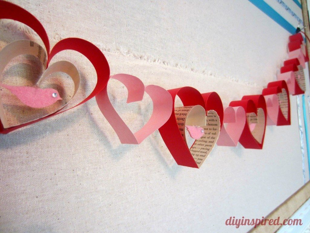 Pretty Paper Heart Cut-Outs and Love Birds