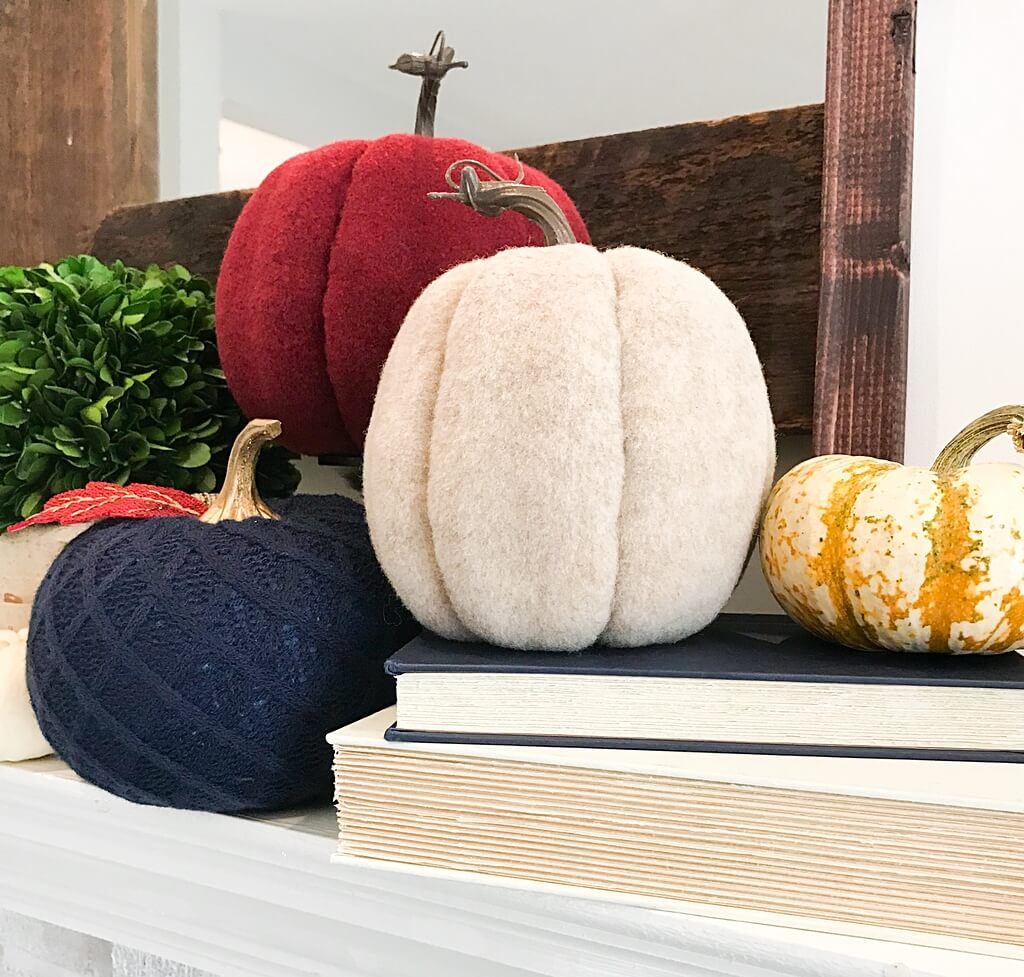 Fabulous Felt and Fabric Covered Pumpkins