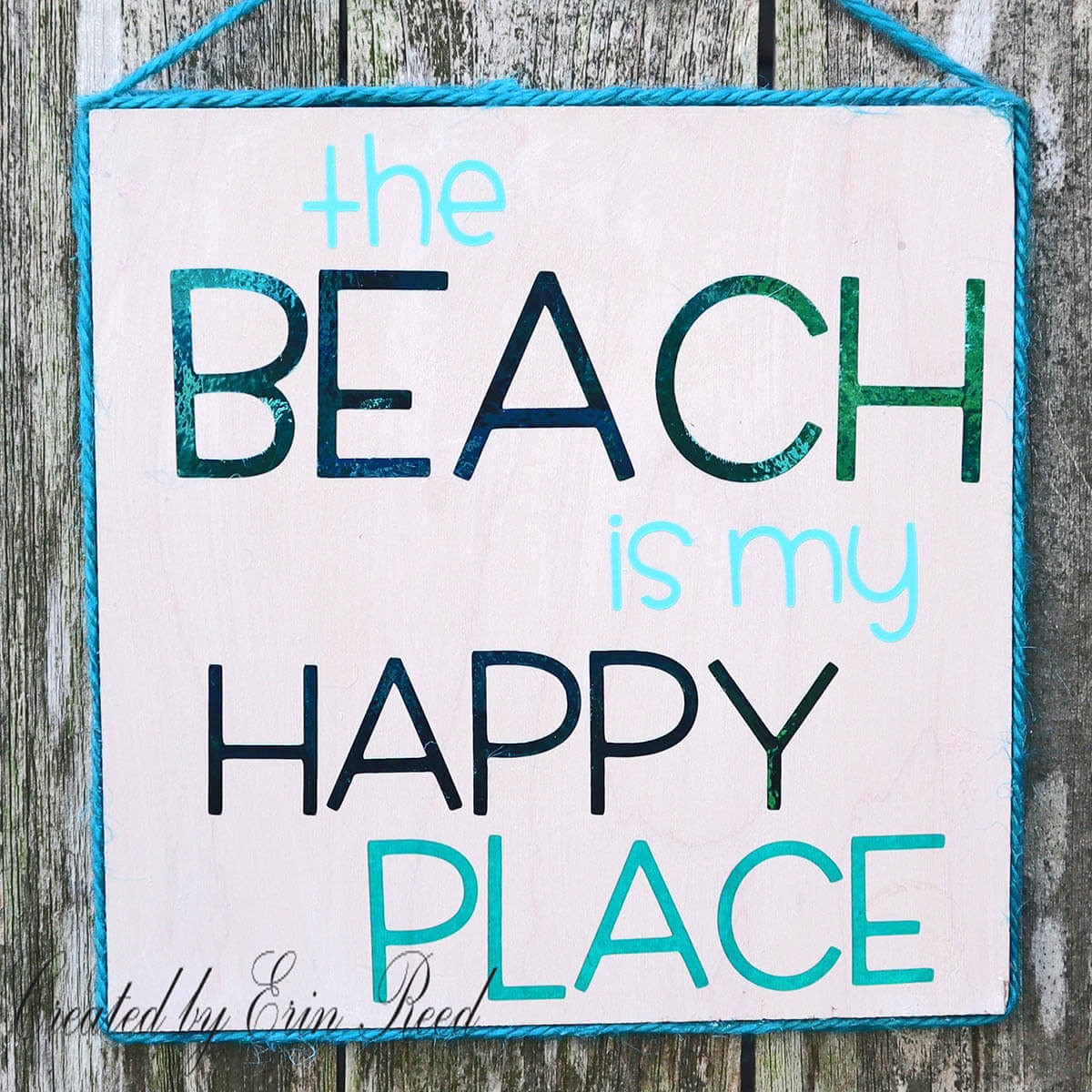 My Happy Place is the Beach Sign