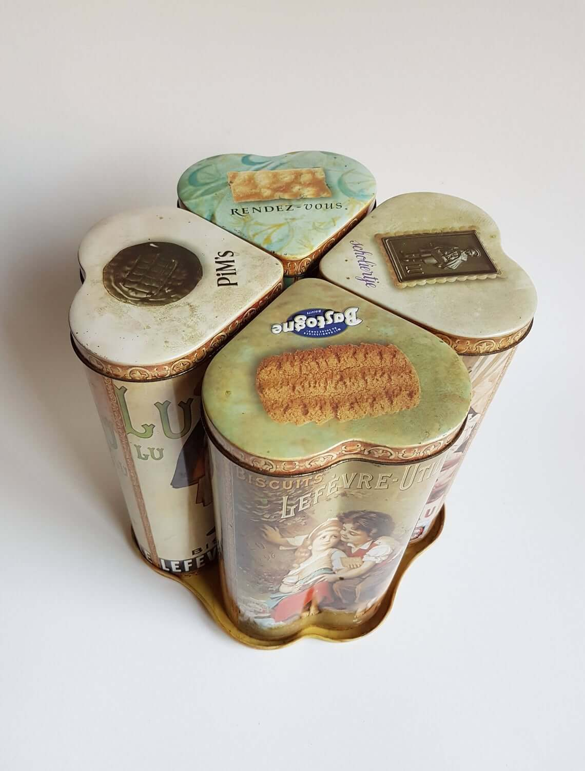 Retro French Biscuit Container Tin