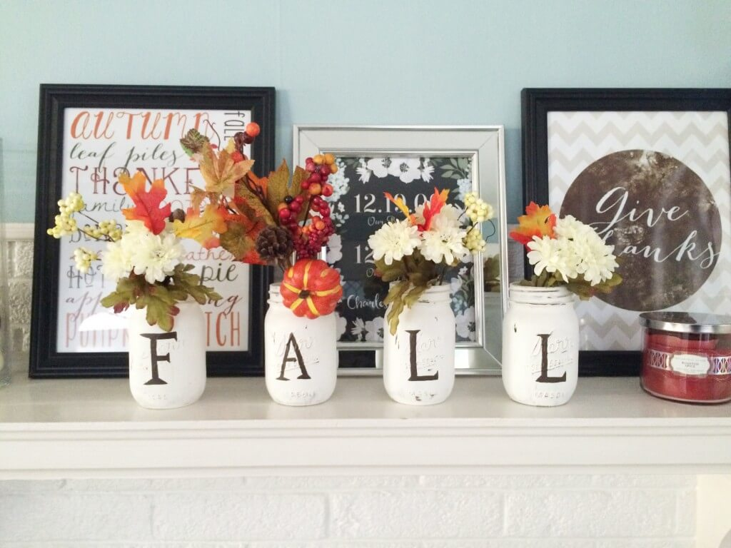 Spell Out Fall with Your Mason Jars
