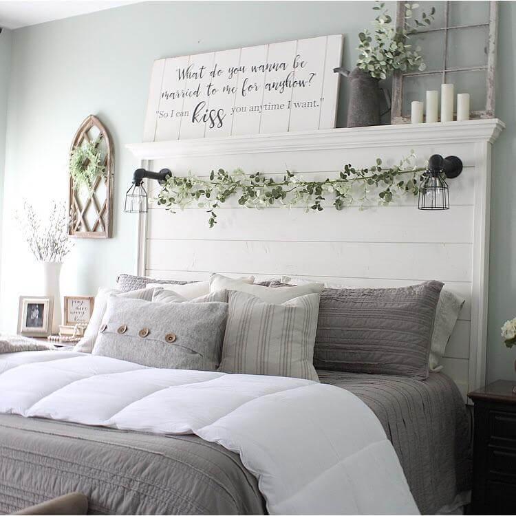 Welcoming Window Pane and Lantern Charming Bedroom