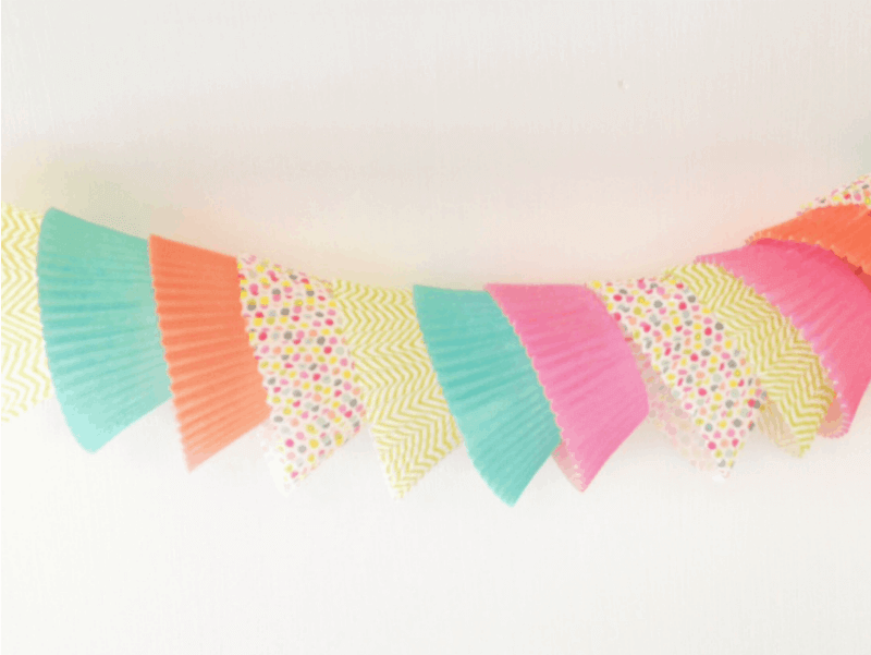 Cupcake Liners Re-imagined as Pretty Paper Garland