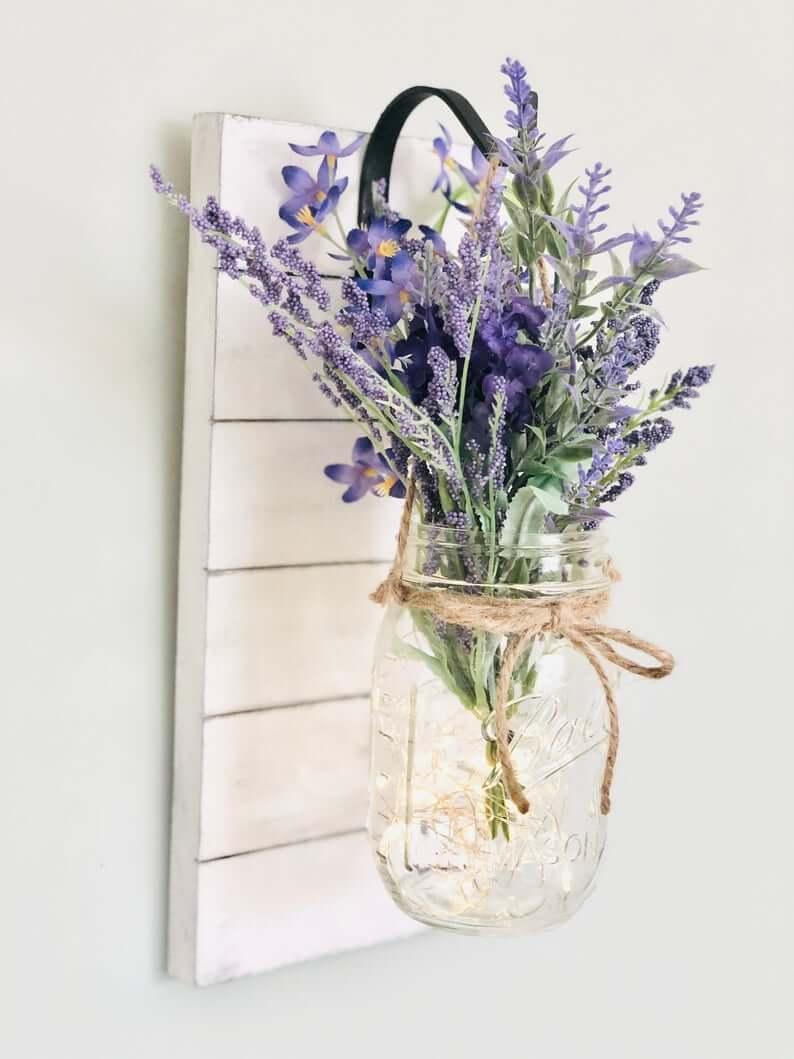 Shiplap, Twine, and Mason Jar Vase Set