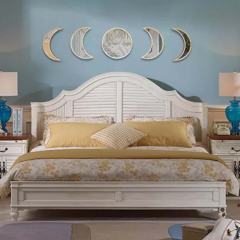 Set of Moon Phase Wall Mirrors
