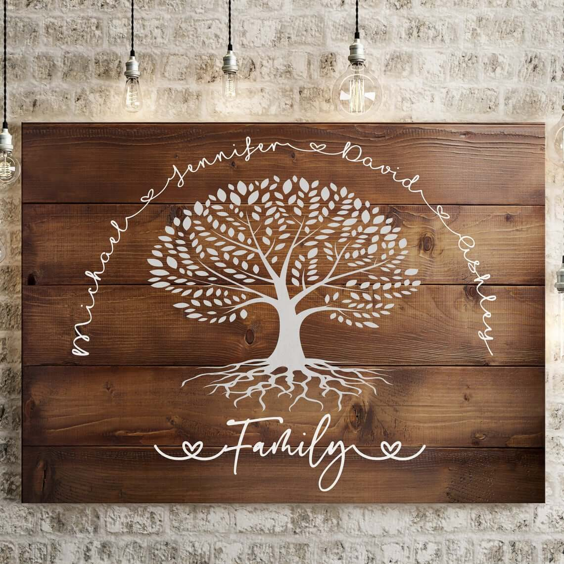 Family Tree Painted on Wood