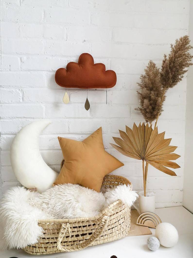 Rust Cloud decor, Cloud Nursery decor