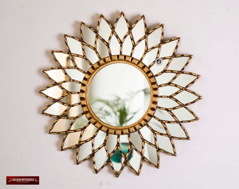 Ornate Gold Round Mandala Mirror