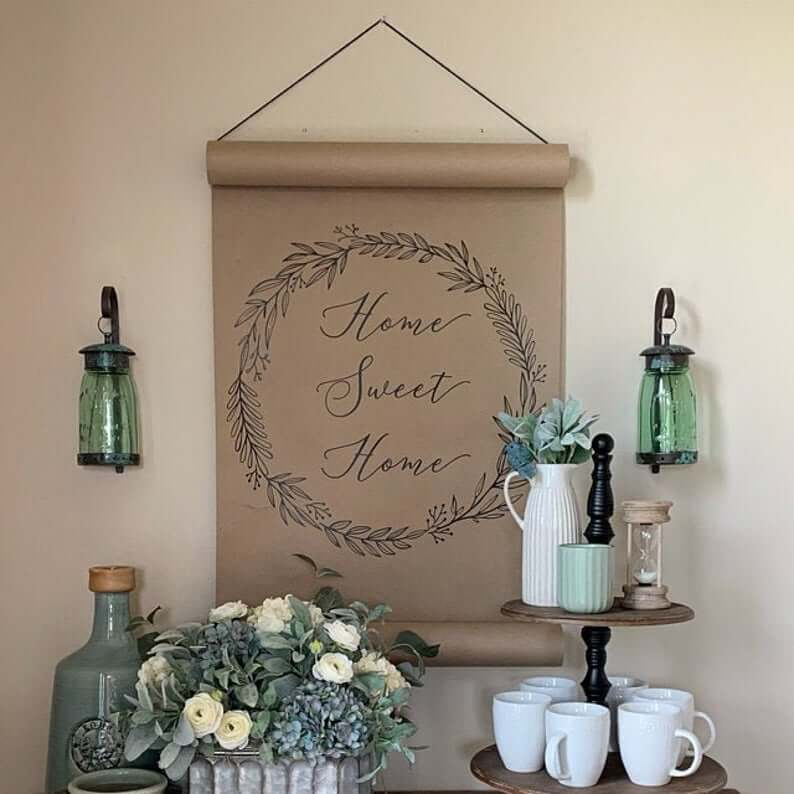 Home Sweet Home Hanging Scroll
