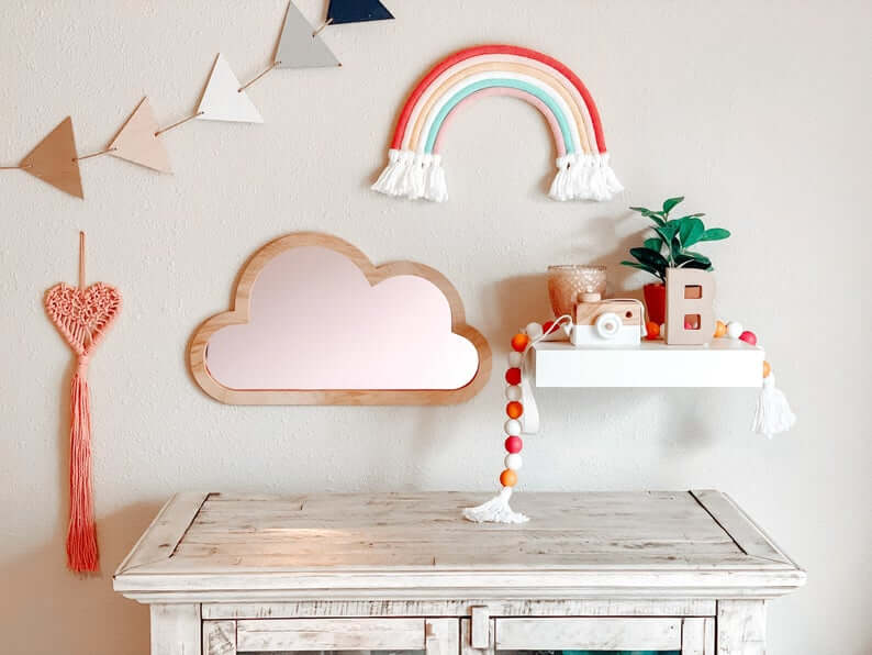 Whimsical Rainbows Reflecting a Cheerful Space