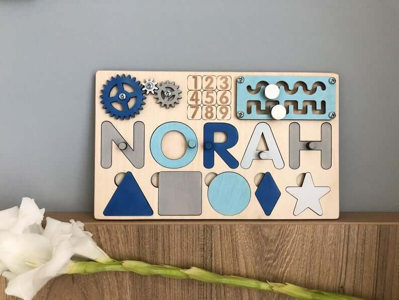 Busy Board for Baby Boy