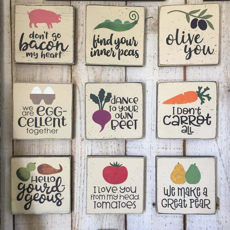 Funny Food Pun Wall Displays