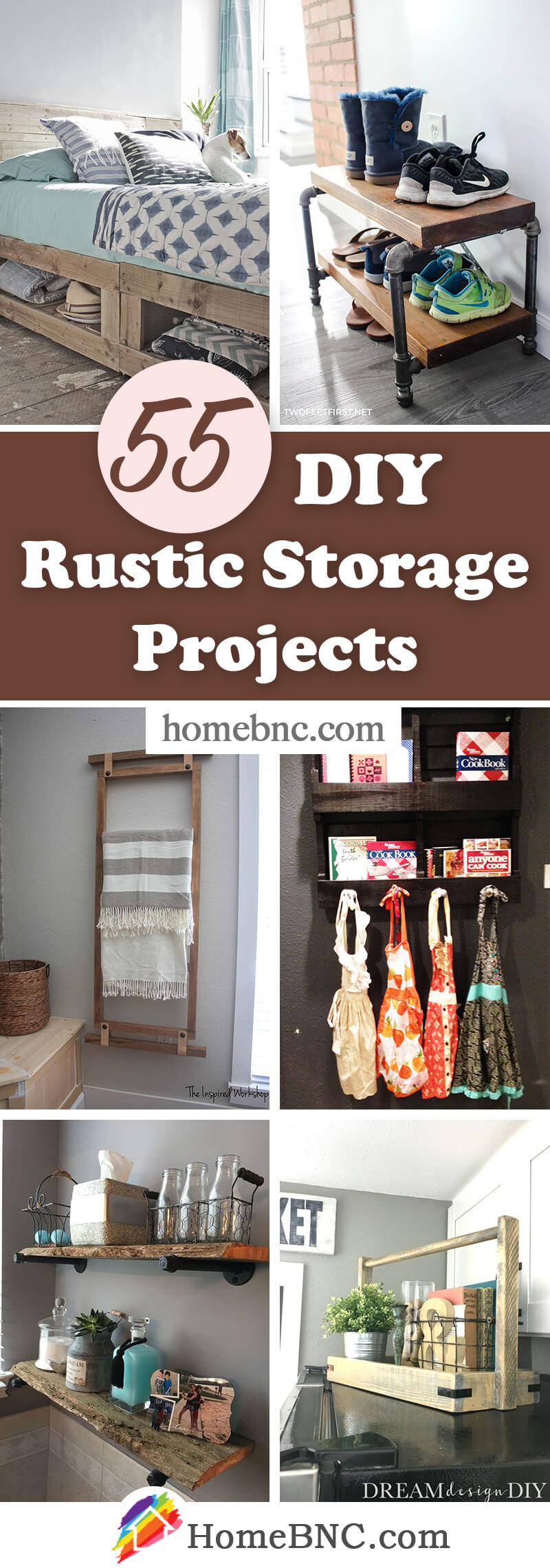 DIY Rustic Storage Projects