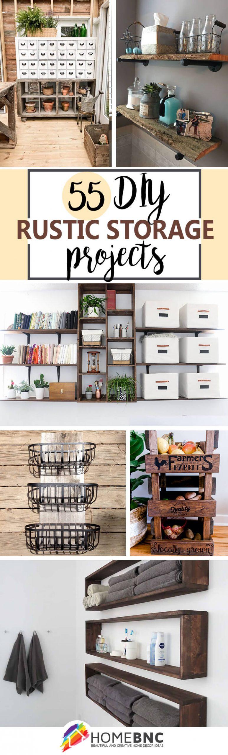 DIY Rustic Storage Project Ideas