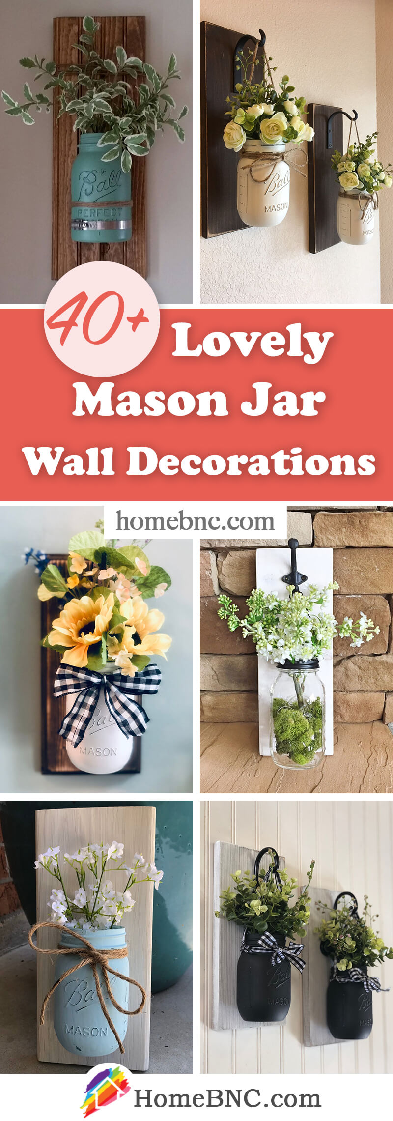 Mason Jar Wall Decor Ideas