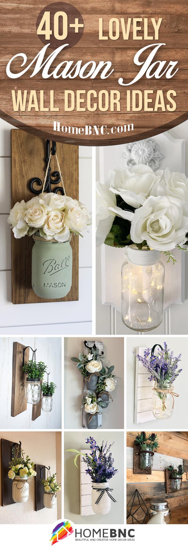 Mason Jar Wall Design Ideas