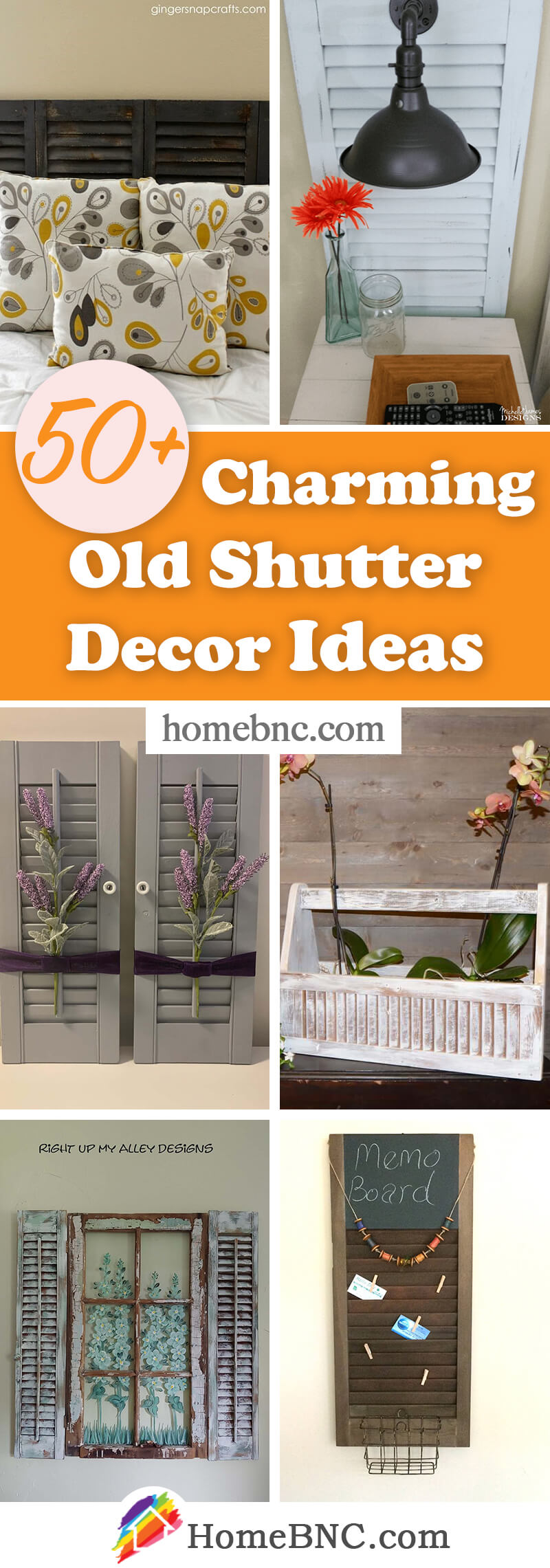 Old Shutter Decoration and Design Ideas