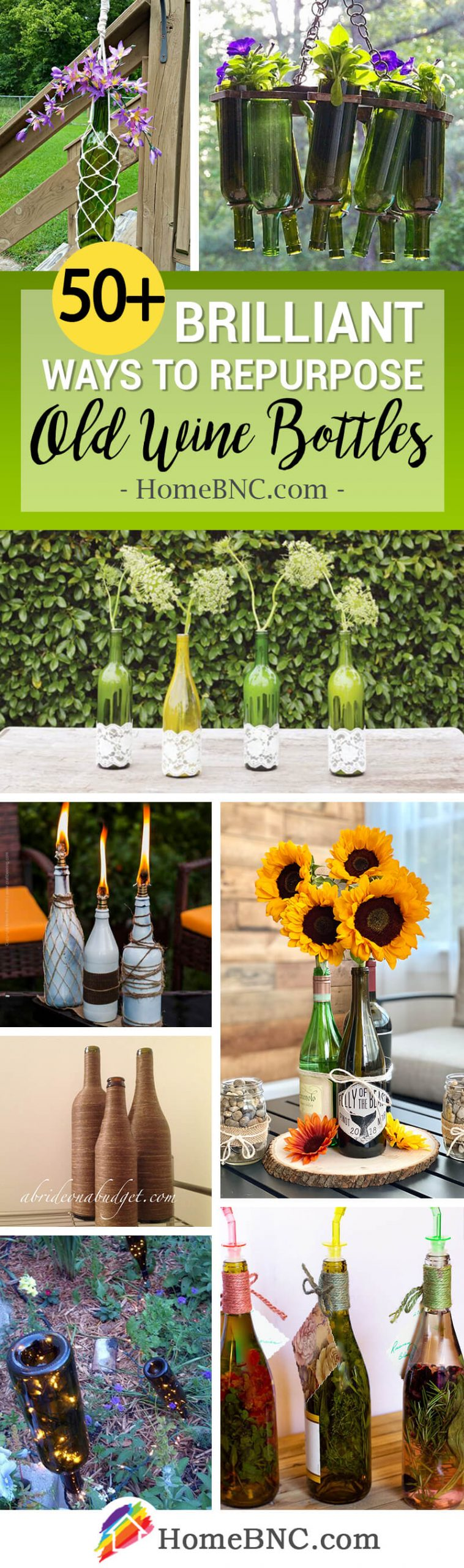 Repurposed DIY Wine Bottle Craft Ideas