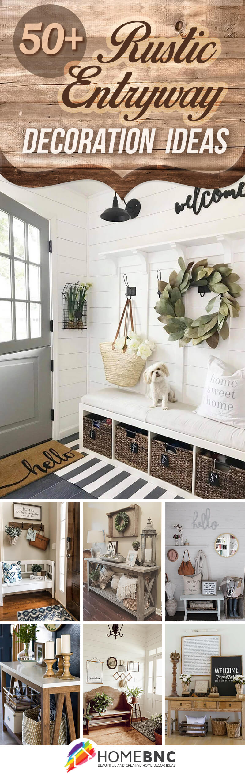 50 Best Rustic Entryway Decorating Ideas And Designs For 2021
