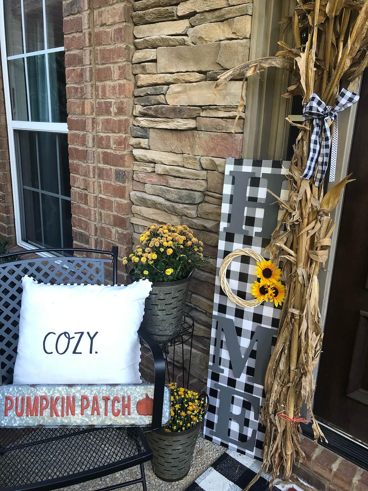 Adorable Check Porch Board for Home