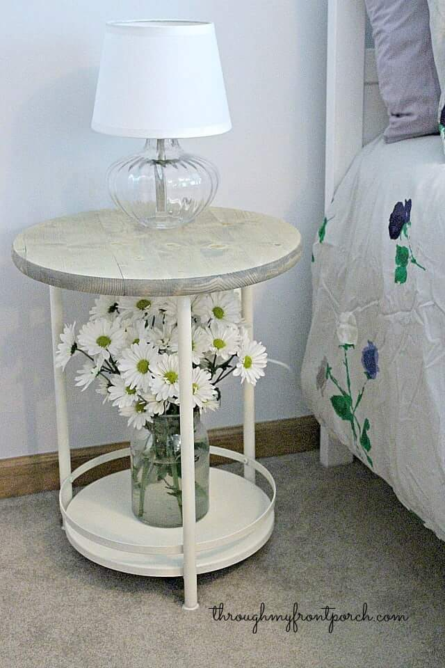 Rustic Chic Side Table Redesign