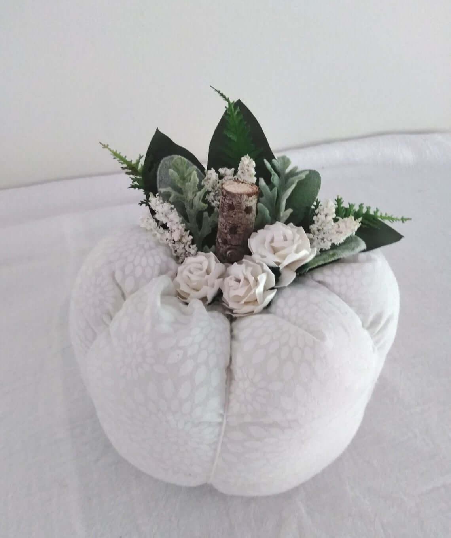 Romantic and Rustic Fall Wedding Pumpkin Centerpiece