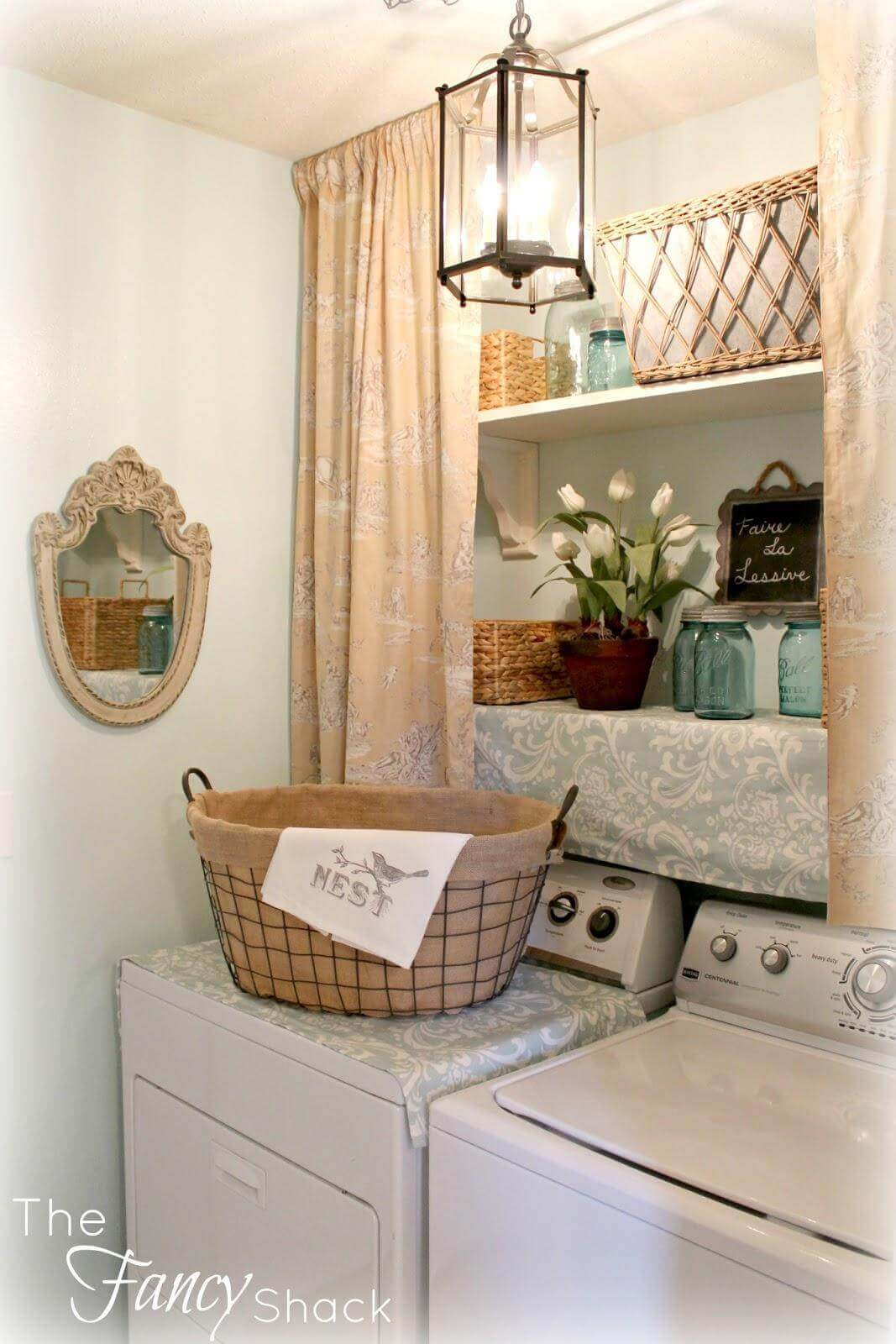 Overhead Chic Laundry Closet vs Cabinets