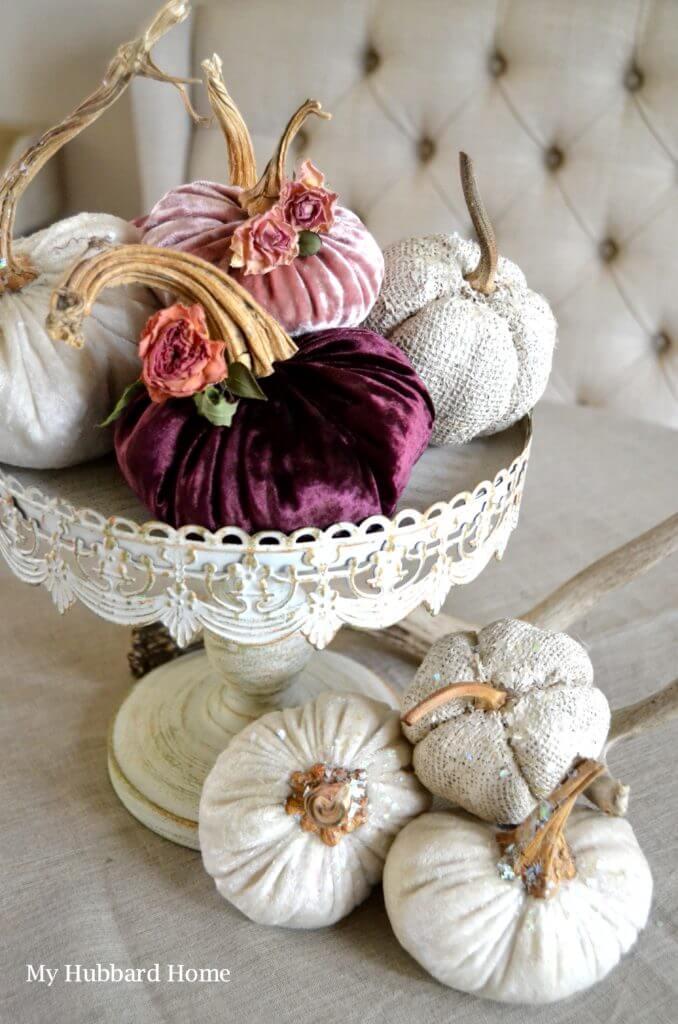Velvet and Textured Pumpkin Patch