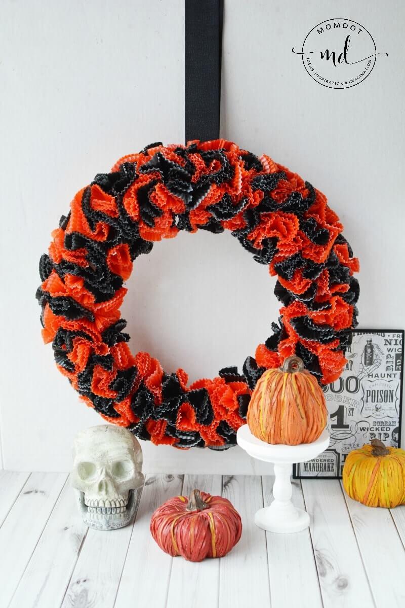Halloween Inspired Sunburst Wreath