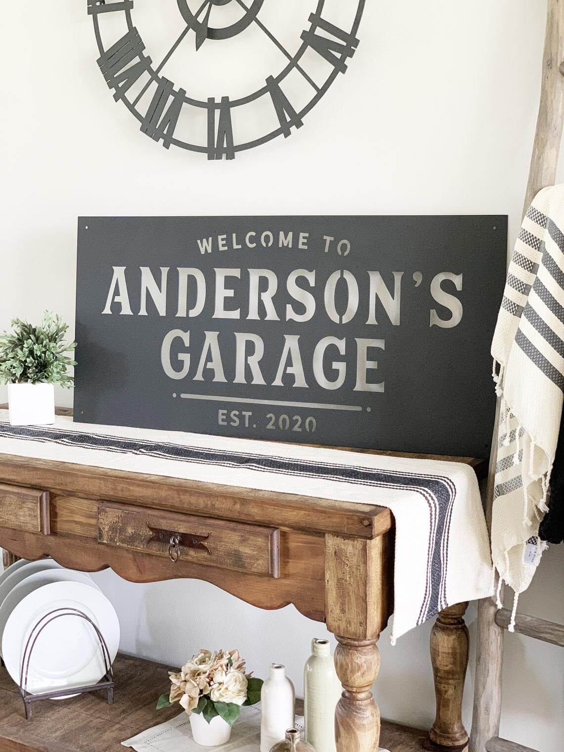 Personalized Sign for the Entryway