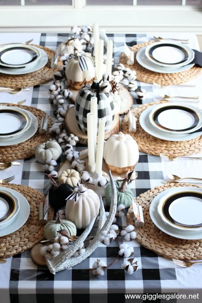 Stunning Buffalo Plaid Thanksgiving Tablecloth