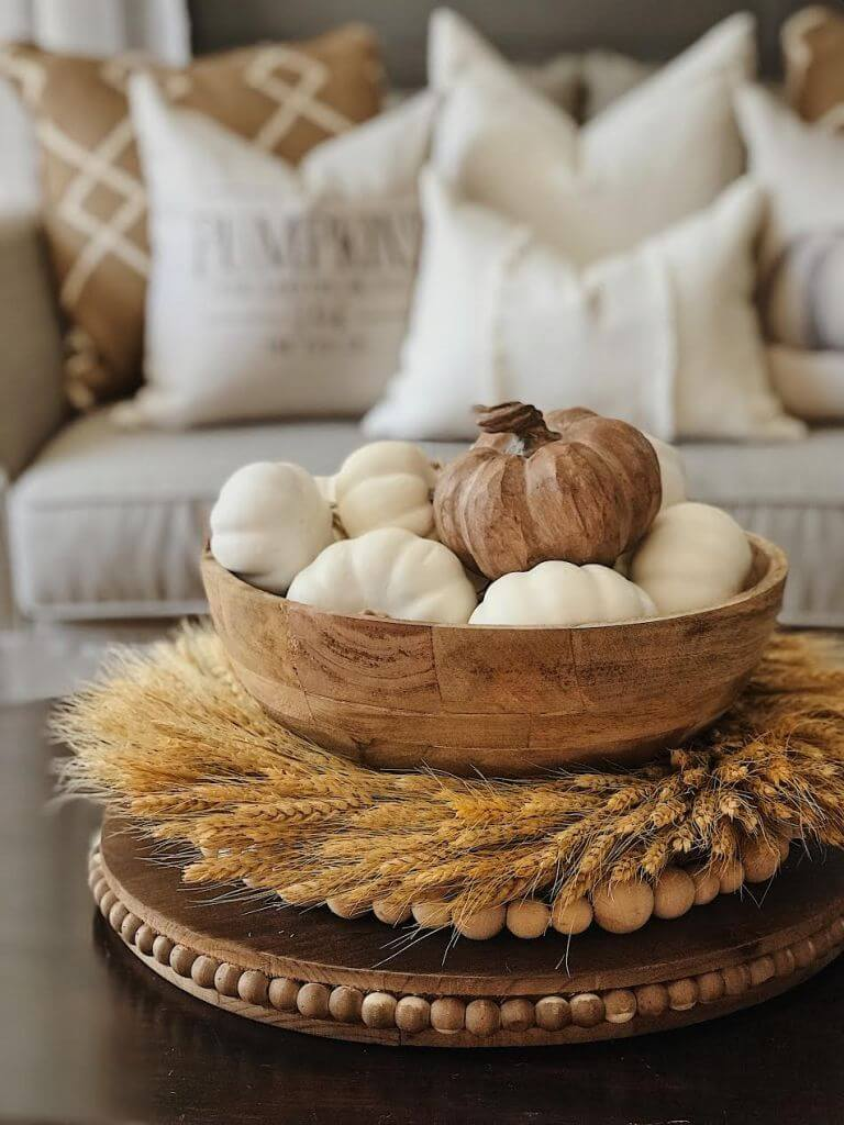Neutral and Natural Harvest Coffee Table Topper