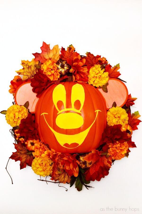 The Happy Pumpkin Flower Wreath