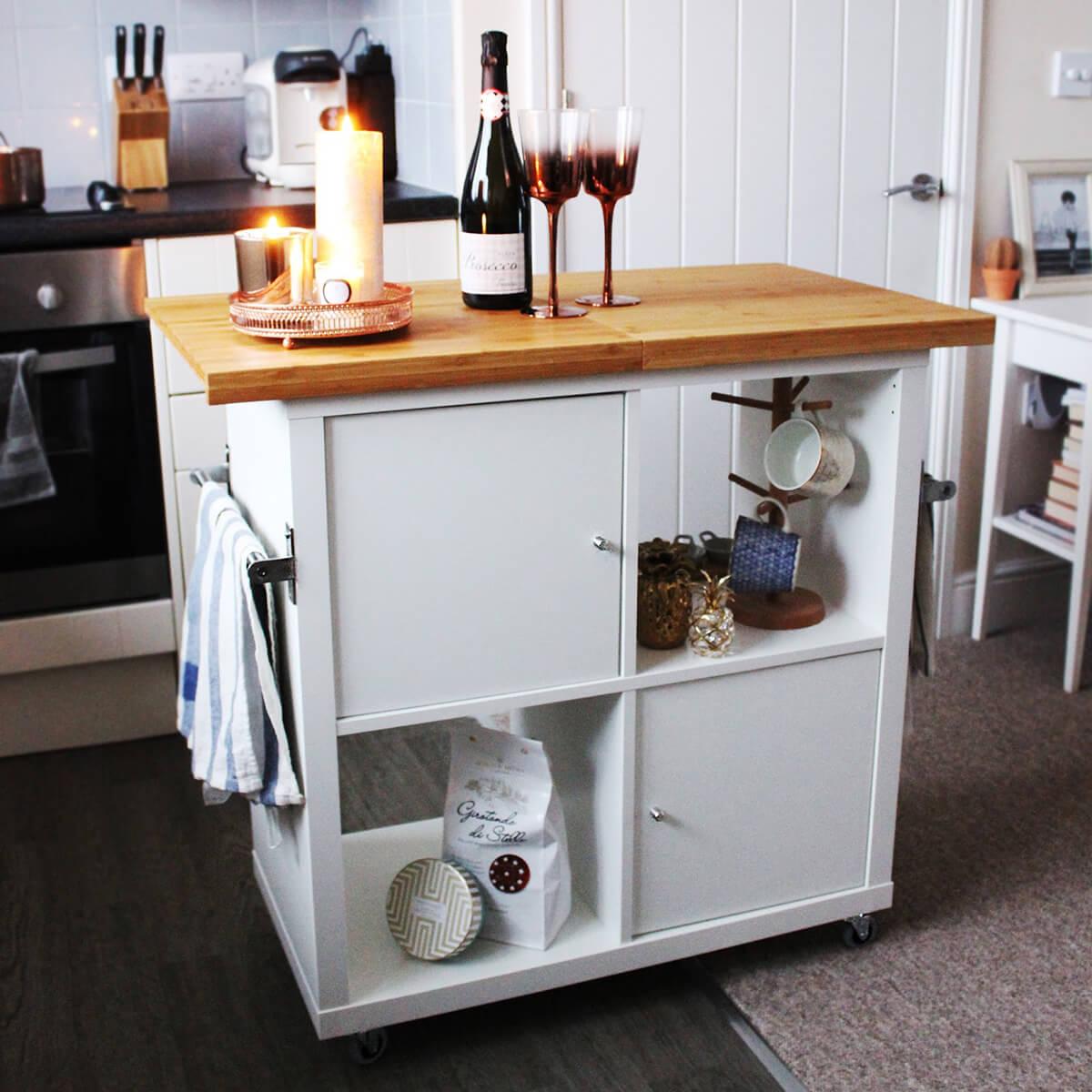 DIY Kitchen Island on Wheels