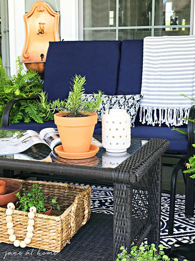 Verdant Green and Navy Porch Design