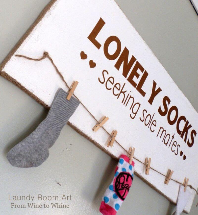 Funny Hooking Up Single Socks Sign