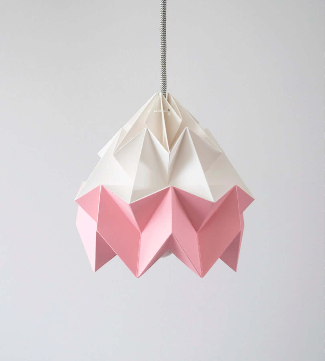 Pink and White Moth Origami