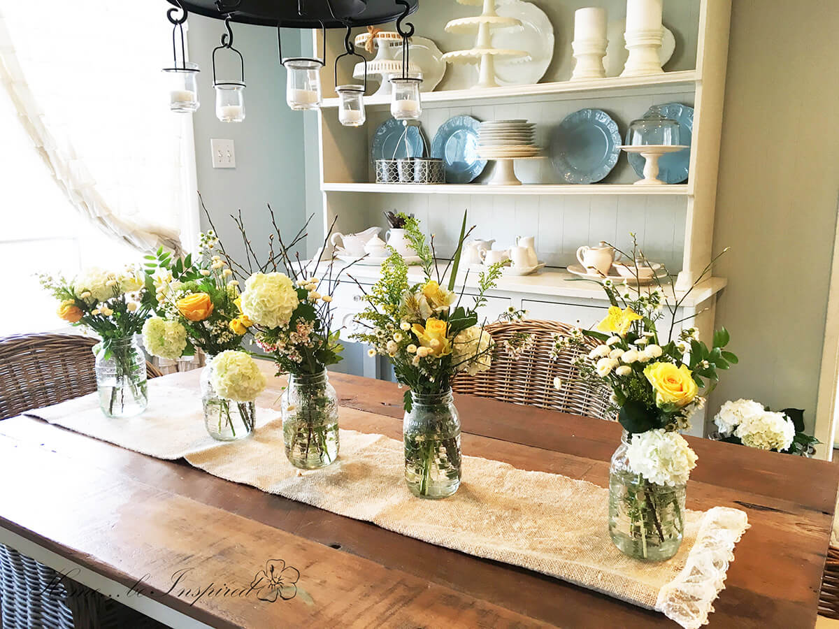 Bright and Warm Floral Centerpieces