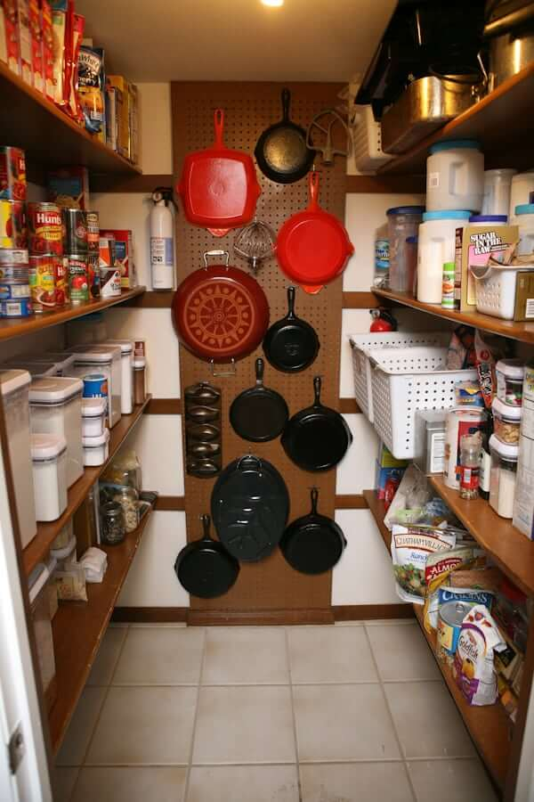 DIY Pegboard Storage for Pots and Pans