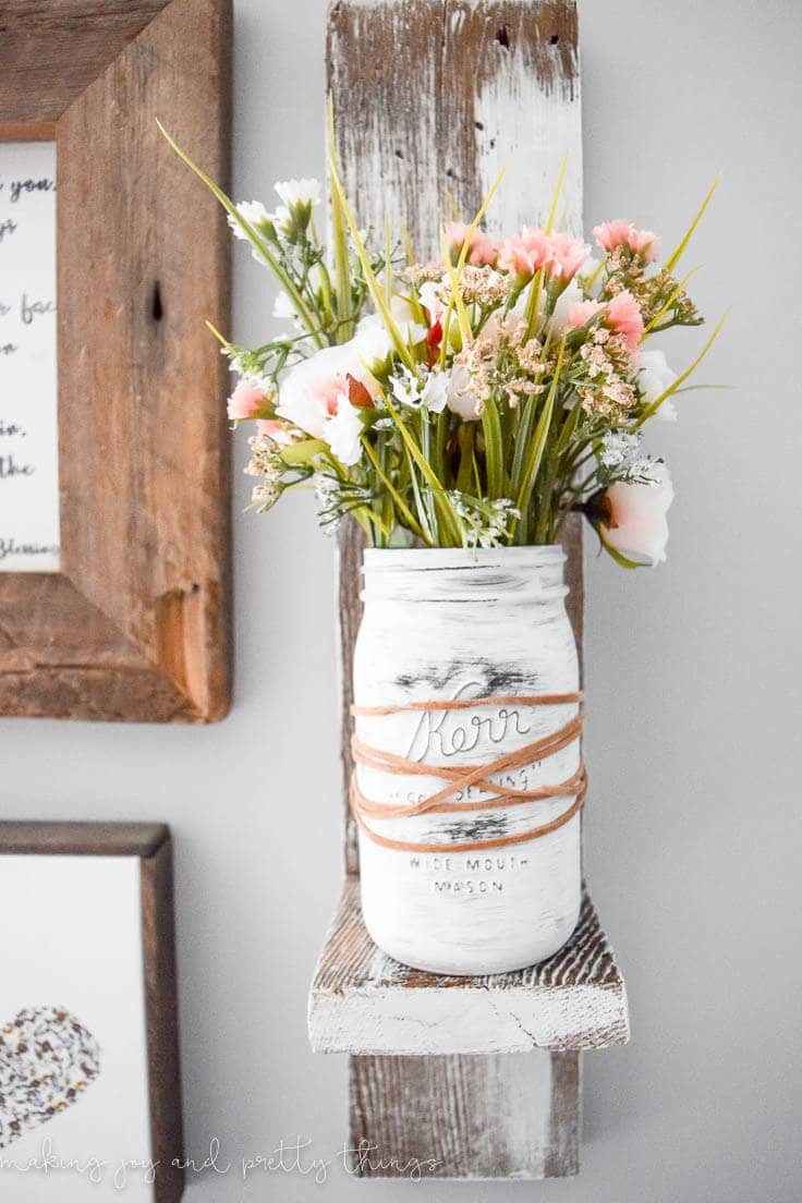 Farmhouse Painted Mason Jar Planter