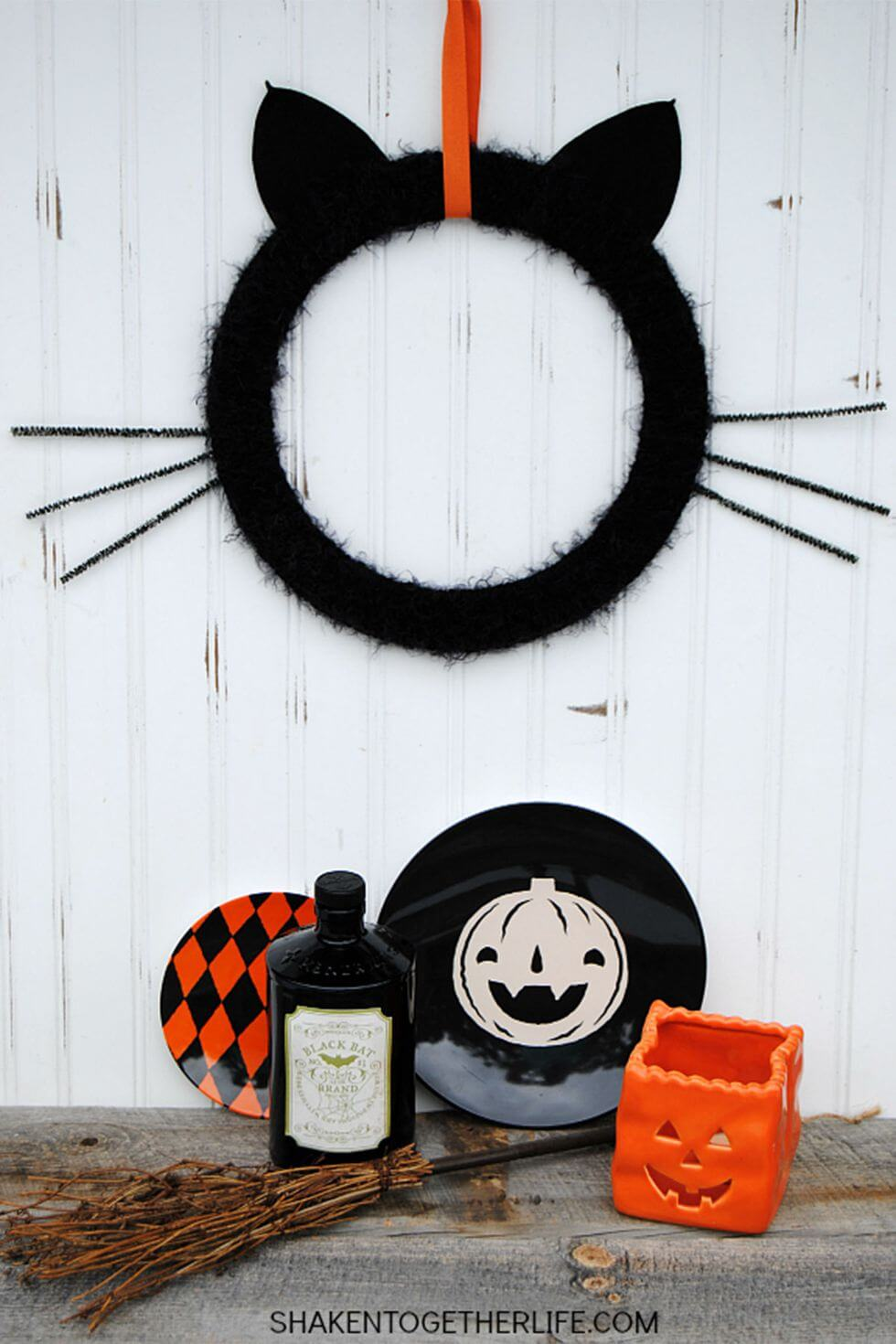 The Absolutely Purrfect Haloween Wreath