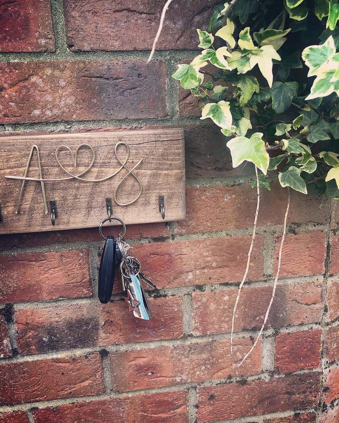 Rustic Key Holder for Entryway Decor