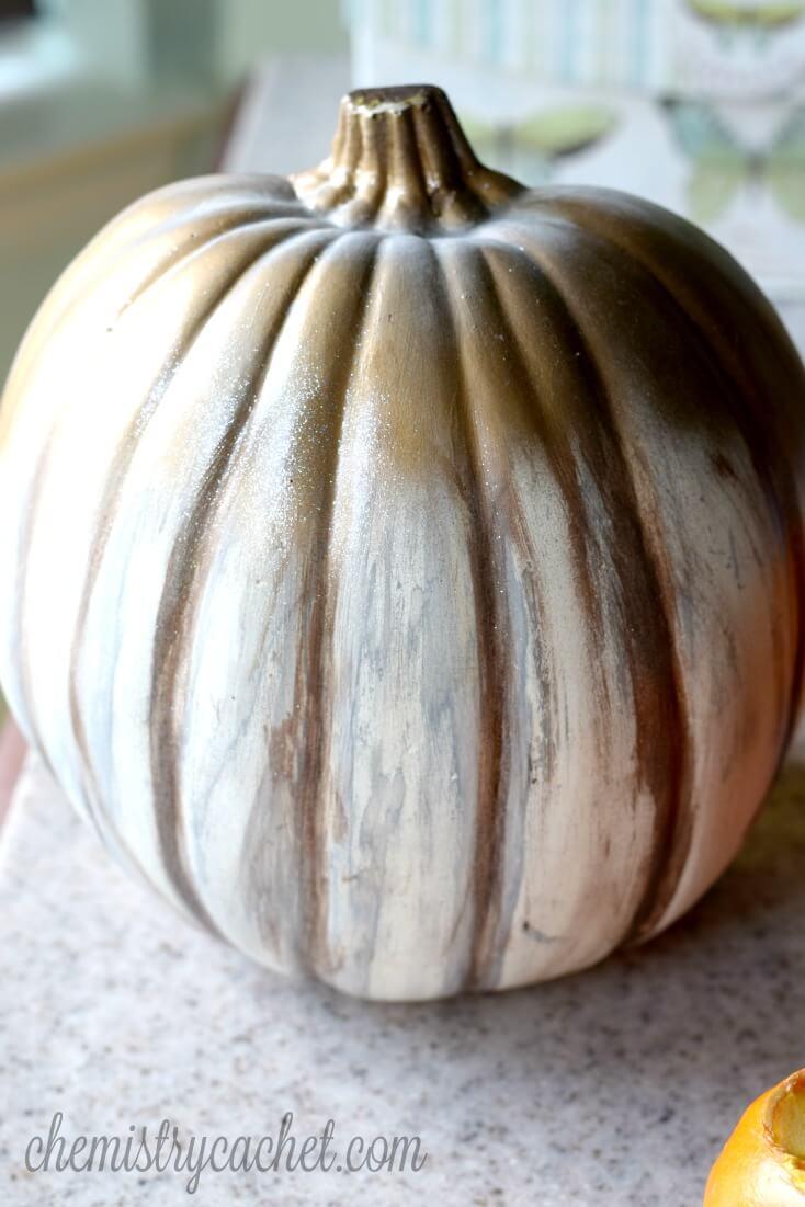 Shabby Chic Pumpkin Design Decoration