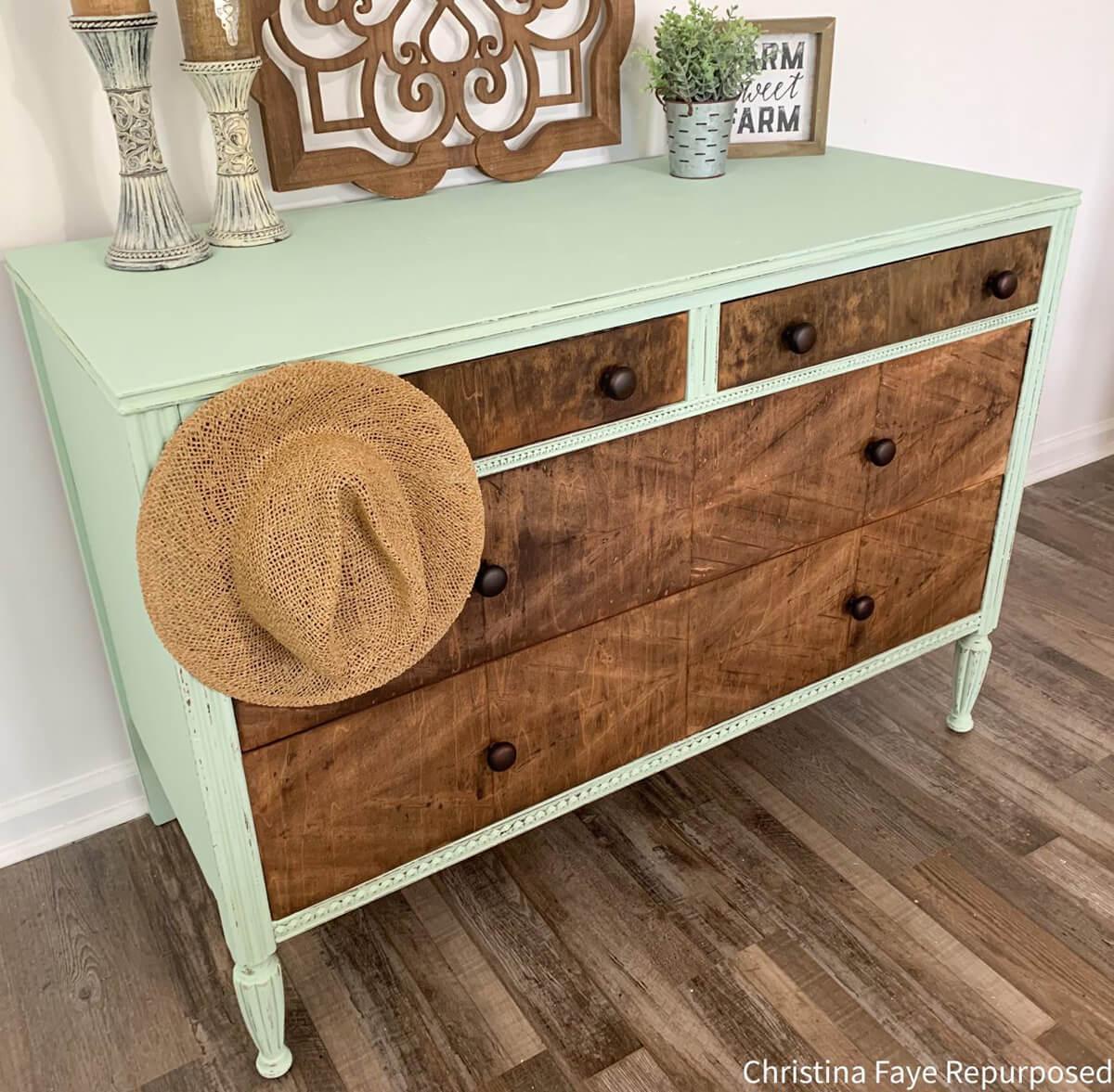 Cuban Attitude Mint and Wood Dresser