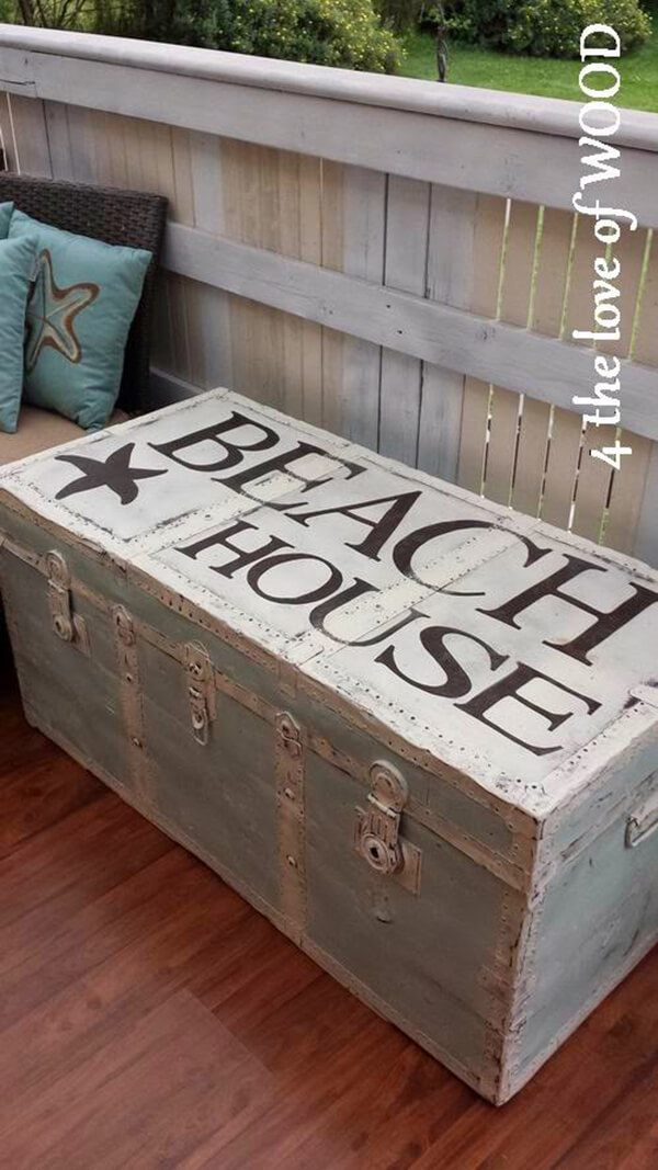 Magical Decorative Painted Treasure Chest