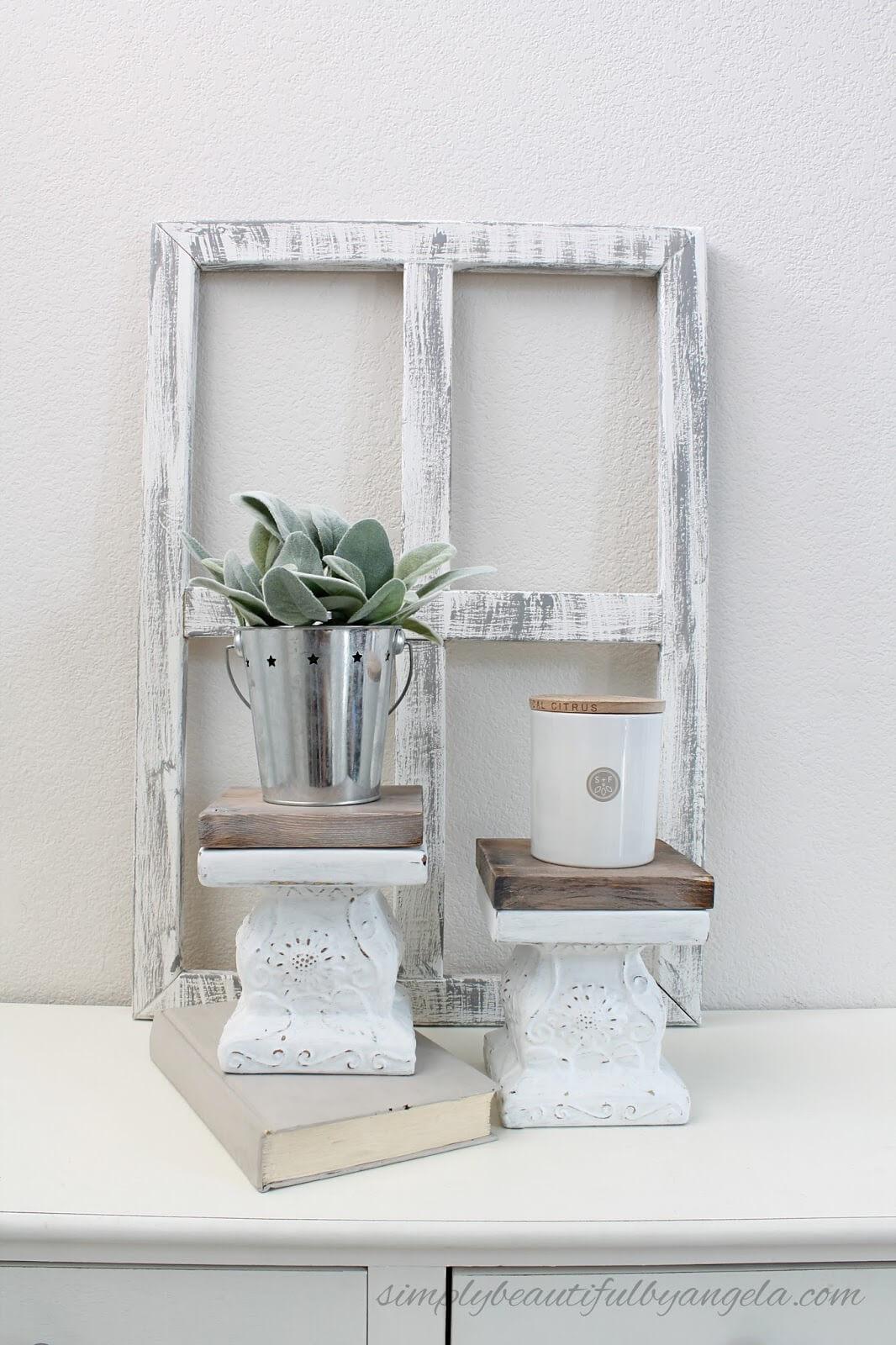 Easy Repurposed Dollar Store Pedestals
