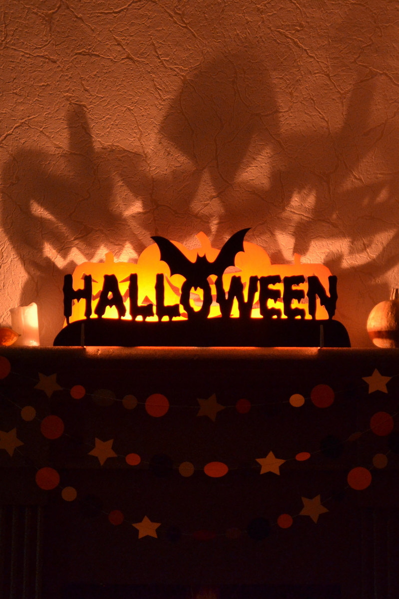 Spooky Shadows Halloween Candleholder