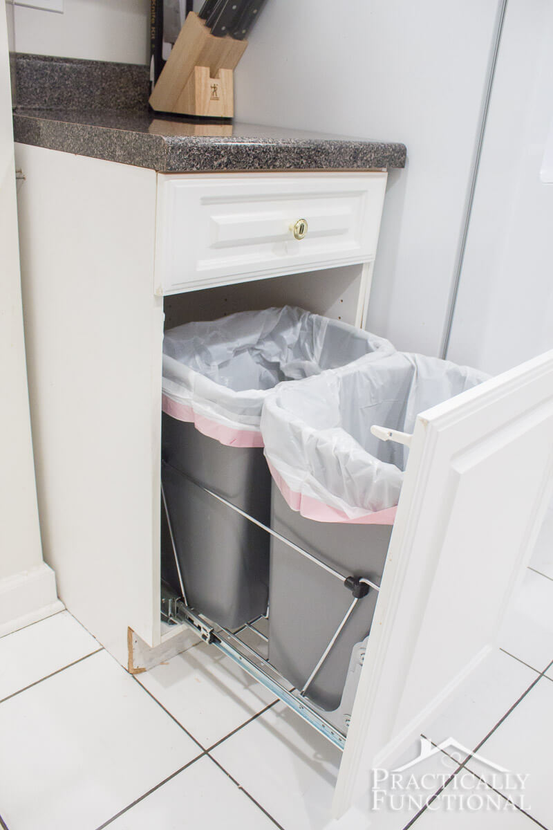 Pull-Out Garbage Can Cupboard