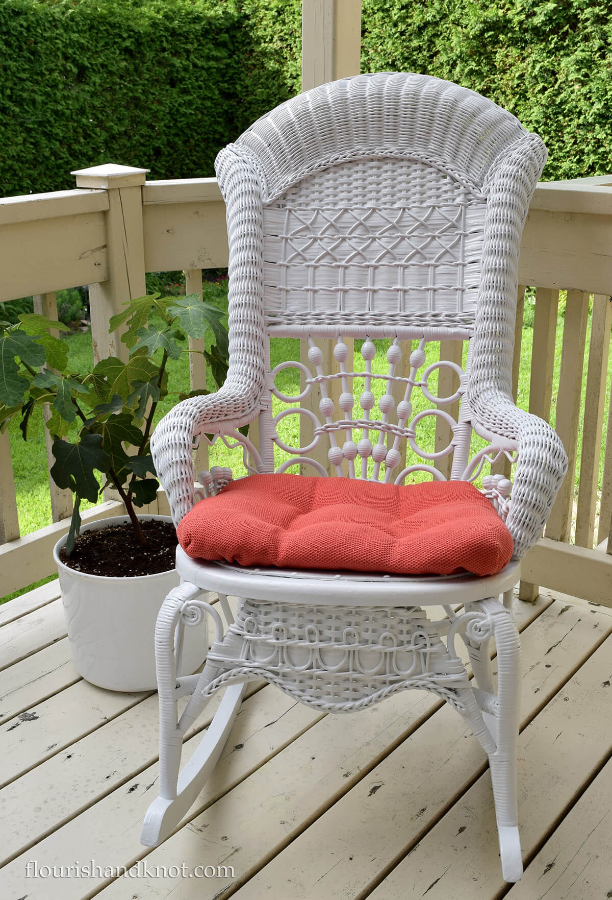 Revitalized Gorgeous Wicker Rocking Chair